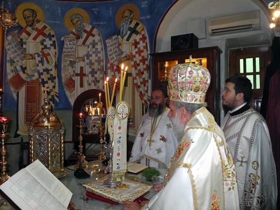Άρχιερατική Θεία Λειτουργία μετά του Σεβασμιοτάτου Μητροπολίτου κ.κ Δωροθέου.
